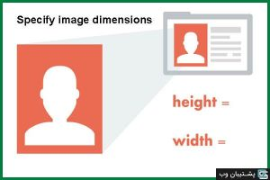 خطای Specify image dimensions